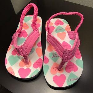 NWOT Carter's Girls flip flops
